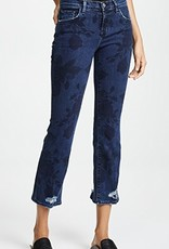J Brand J Brand Selena Floral Distressed Cropped Jeans
