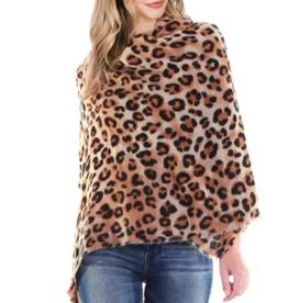 LIB Camel Leopard Oversized Multi Shawl