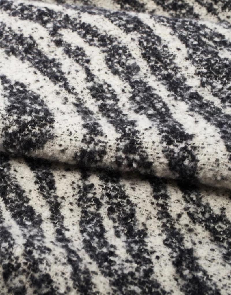 Look Brushed Zebra Grunge Scarf