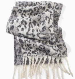 Look Brushed Leopard Grunge Scarf
