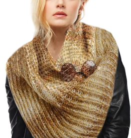 LOF Knit Tube Button Scarf