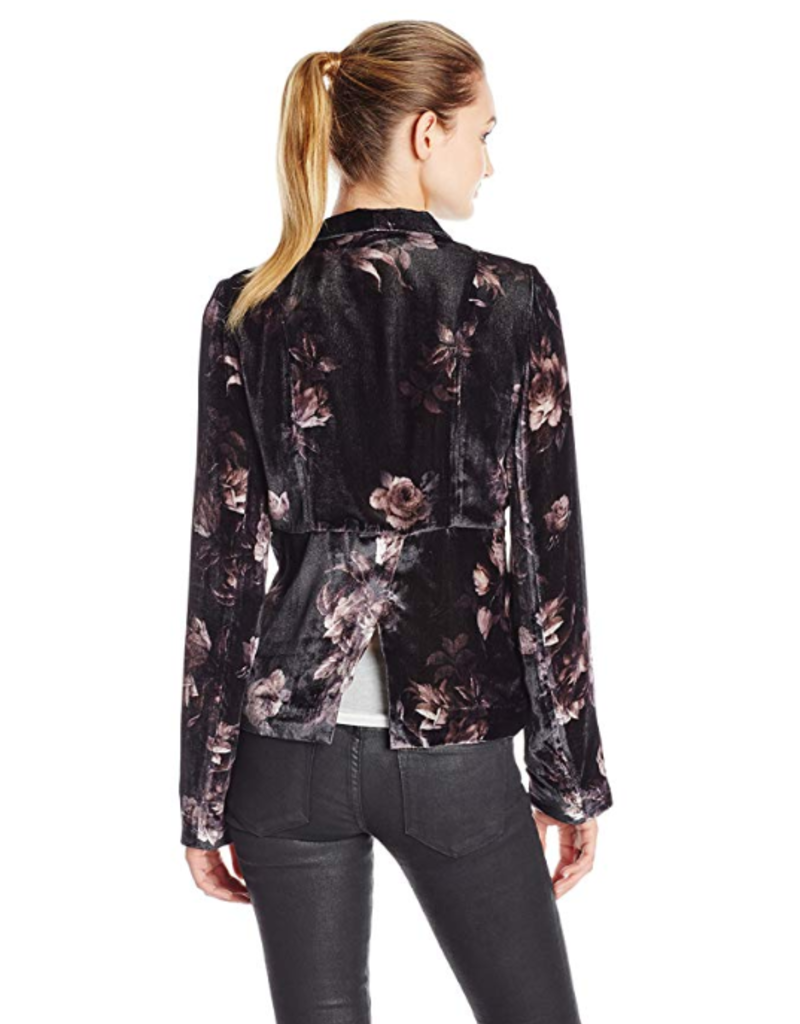 Chaser English Roses Velvet Blazer