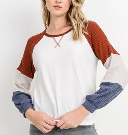 Papercrane French Terry Raglan Top