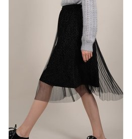 Molly Bracken Tulle Skirt with Golden Polka Dot Detail