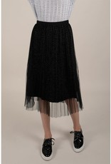 Molly Bracken Tulle Skirt with Golden Polka Dot Detail