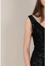 Molly Bracken Black Body Con Sequin Dress