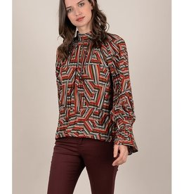 Molly Bracken Graphic Printed Blouse