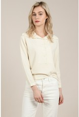 Molly Bracken Cream Button Front Sweater