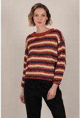 Molly Bracken Asymmetric Striped Sweater