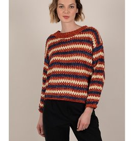 Molly Bracken Asymmetric Striped Sweater