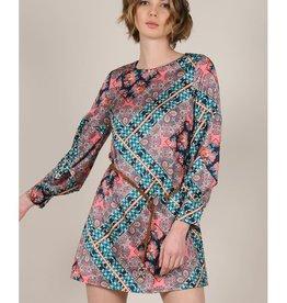 Molly Bracken Mini Printed Bishop Sleeved Dress