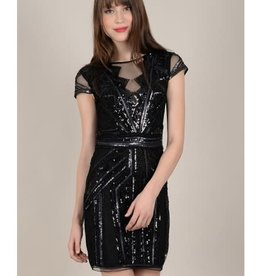 Molly Bracken Cap Sleeve Sequin Dress