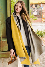 LOF Two Tone Pleated Scarf