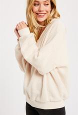 Wishlist Fluffy V-Neck Sweater