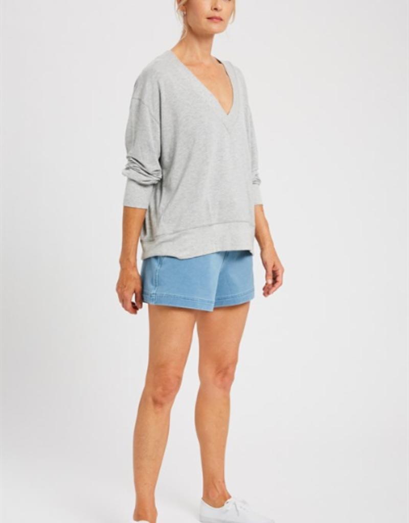 Wishlist Gray Jersey Essential Top