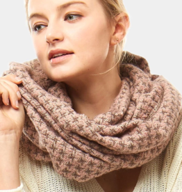 LOF Houndstooth Infinity Scarf