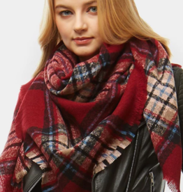 LOF Plaid Check Blanket Scarf