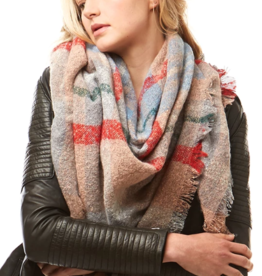 LOF Plaid Square Blanket Scarf