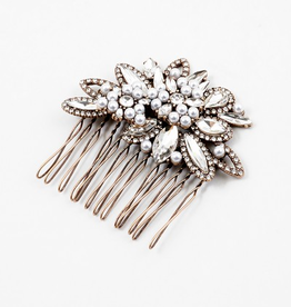 Blue Suede Jewels Jeweled Hair Comb