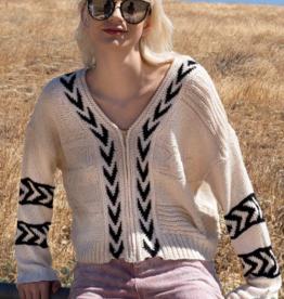 POL Boho Zip Sweater