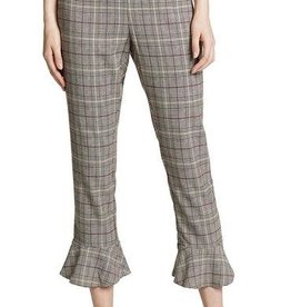 BB Dakota Flutter Hem Plaid Pants