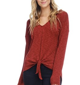 Anama Tie Front Hoodie