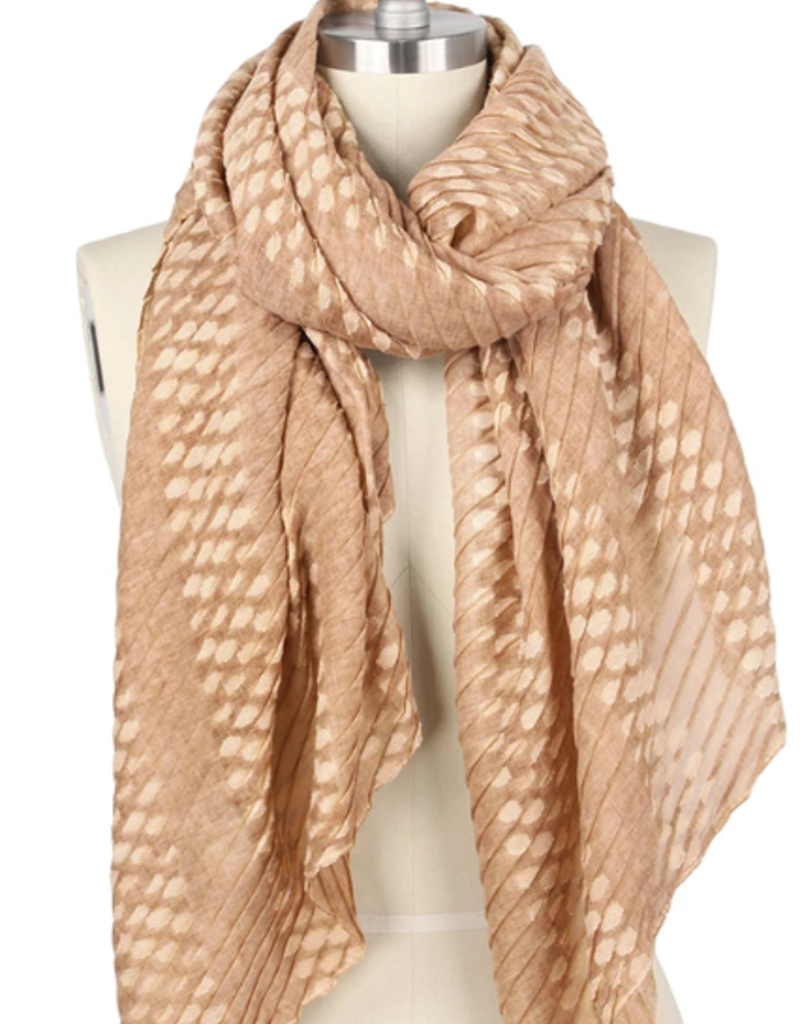 LIB Pleated Oblong Scarf