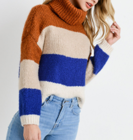 Papercrane Knit Colorblock Sweater