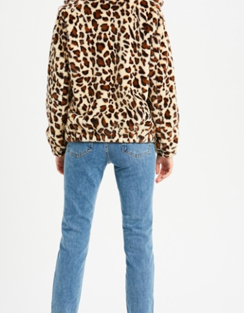 Wishlist Leopard Faux Fur Jacket