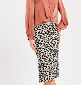 Wishlist Animal Print Skirt