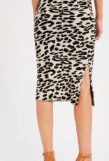 Wishlist Animal Print Skirt