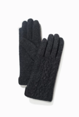 Look By M Half Knitted Gloves
