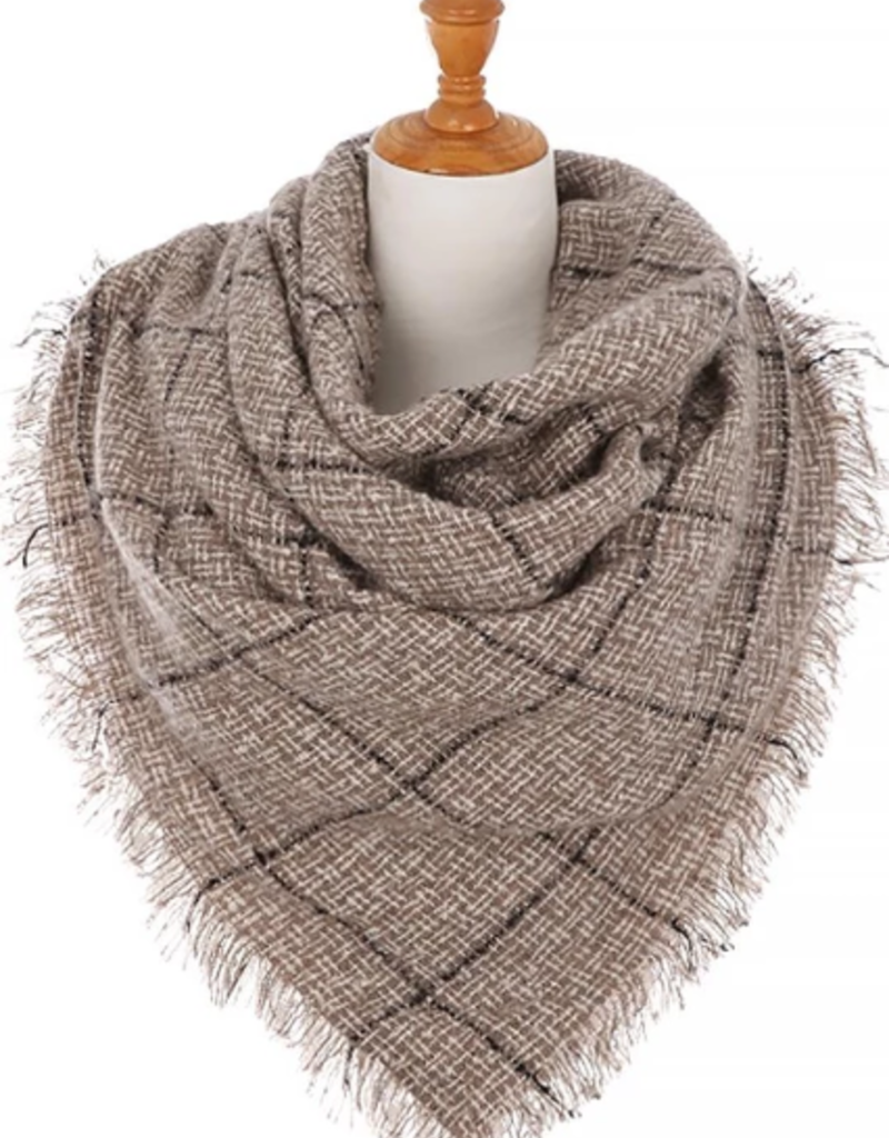 Ben's Wholesale Thin Lined Blanket Scarf