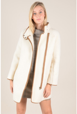 Molly Bracken Faux Shearling Car Coat