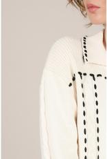Molly Bracken Contrast Stitching Cardigan