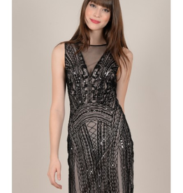 Molly Bracken Sequin Sleeveless Dress