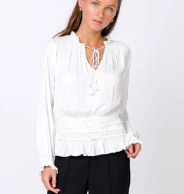 Current Air Long Sleeve Elastic Waist Top