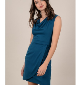 Molly Bracken Short dress with cowl neck