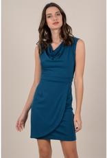 Molly Bracken Short dress with cowl neck