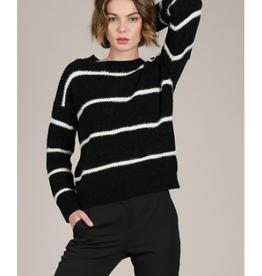 Molly Bracken Striped Chenille Sweater