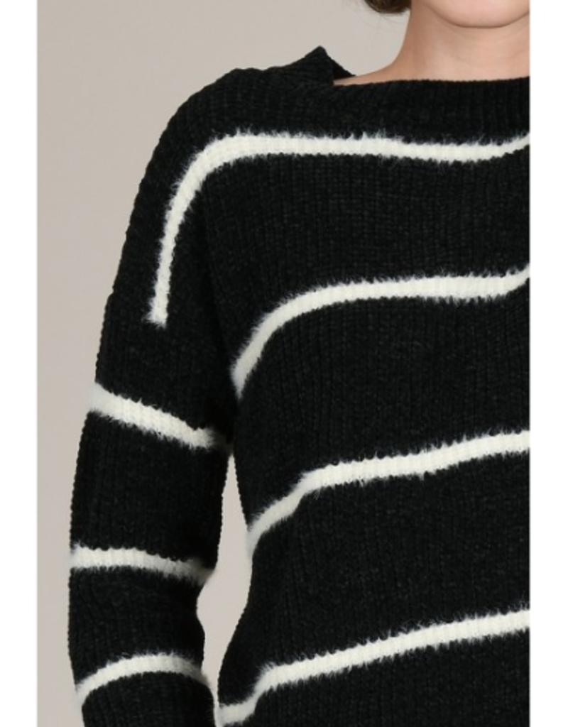 Molly Bracken Striped Chenille Sweater