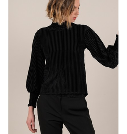 Molly Bracken Pleated Velvet Top