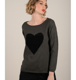 Molly Bracken Heart Print Sweater