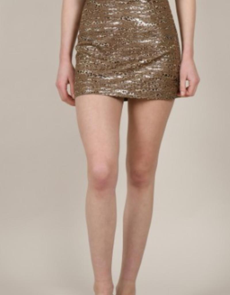 Molly Bracken Bronze Leopard Skirt