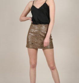 Molly Bracken Bronze Leopard Skirt