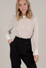 Molly Bracken Ivory Dot Blouse