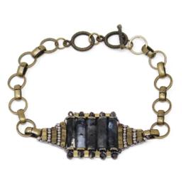 US Jewelry House Natural Stone Bar Bracelet