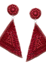 Blue Suede Jewels Seed Bead and Sequined Drop Earrings
