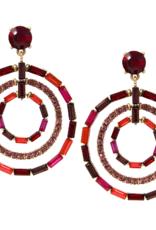 Blue Suede Jewels Pave Triple Hoop Earrings