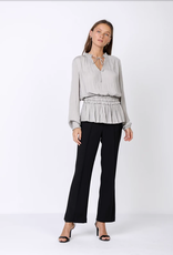 Current Air Gray Tiered Ruffle Top
